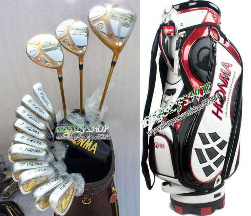 HONMA BERES S-02 Complete club set 1/3/5 Golf wood set+irons+putter+bag Golf clubs Golf Graphite shaft wood covers Free shipping(China (Mainland))