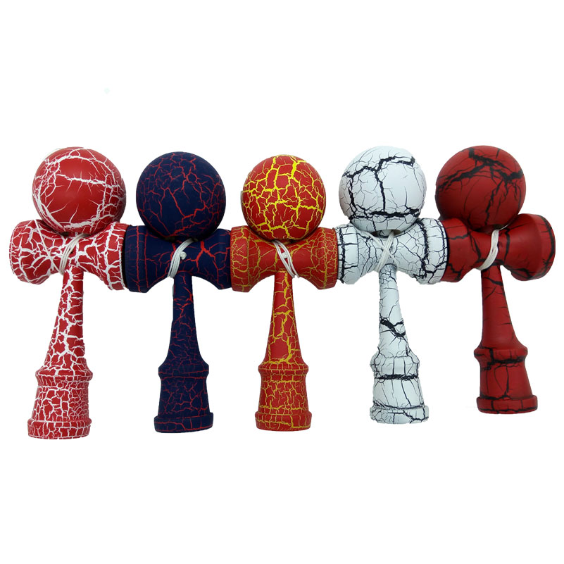 Full Crack Kendama Sword Ball Skillful Professional Juggling Ball Game Toy Wooden Kendama Toy For Children Adult Christmas Gifts(China (Mainland))