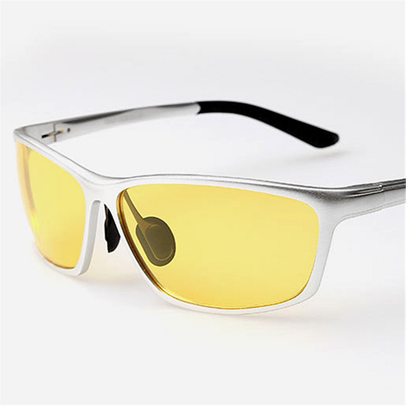 Polarized Night Vision Goggles Men Driver Aluminum Magnesium Sunglasses Male Driving Glasses UV400 Visibility For The Driver(China (Mainland))