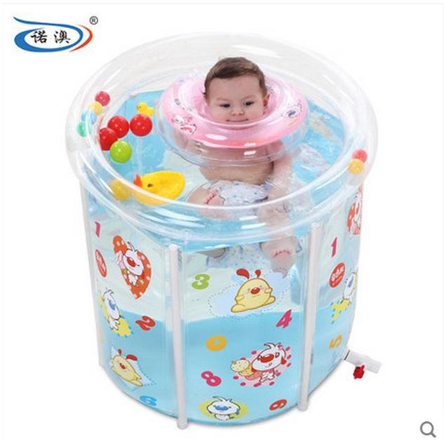 size:73*75cm,free shipping Water thickening folding tub adult bathtub inflatable bathtub bath bucket baby swimming pool(China (Mainland))