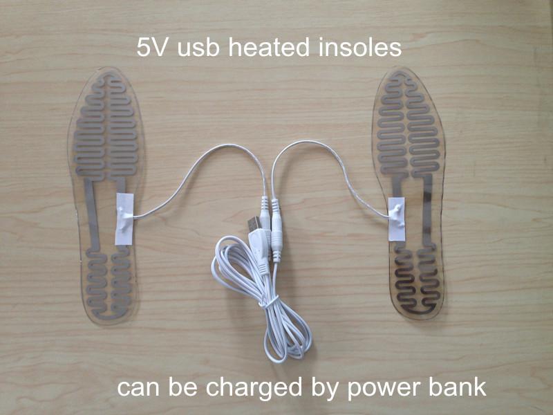 Гаджет  5V USB heated insoles heating film USB heating element DIY heated insoles 6.5*23cm XD003 rio USB plantillas calefactables None Обувь