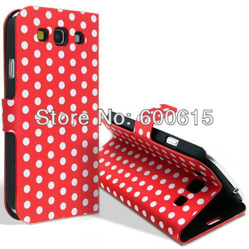 Polka Dots Flip PU Leather Case Samsung Galaxy I9300 S3 Neo GT-i9301/I9300i SIII Duos Wallet Capa Celular - Thomas Lin'S Phone Cases Store store