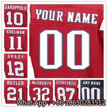 100% Stitched With Customized #10 Jimmy #11 Julian #12 Tom #21 Malcolm #32 Devin #87 Rob Men's Black Red White Jersey(China (Mainland))