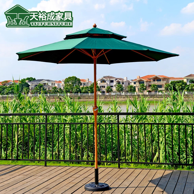 Outdoor umbrella Roman balcony patio furniture column in