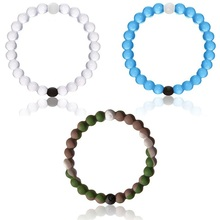 2015 New Fashion Silicone camo bracelets for MEN AND WOMEN High transparent wild  beads wild bracelets(China (Mainland))