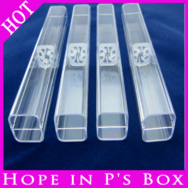 100pcs/Lot transparent small box for crystal pens packing box plastic clear gift box fashion clear pencil ballpoint box(China (Mainland))