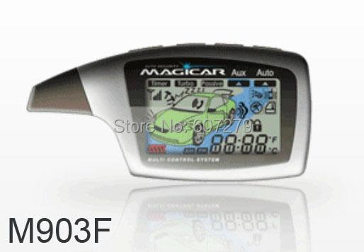 original korean magicar M903F M902F/1 mile remote starter/two way car alarm/LCD display pager/compustar magicar 5/timer start/(China (Mainland))