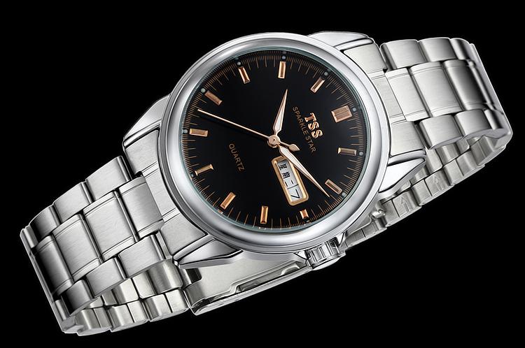 TSS relogio masculino Luxury Brand Аналоговый спорт Наручные Часы Отображения Даты мужская Кварцевые Часы Бизнес-Часы Мужские Часы T5005