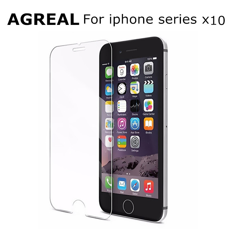 10pcs/lot Ultra Thin 0.3mm Anti-shatter Tempered Glass iPhone 6 6s plus 7 5 5s 5c 4 4s Screen Protector Film Clean Tool