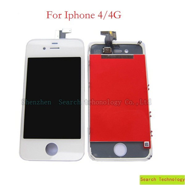 4pcs Digitizer Touch Screen+LCD Display Screen Assembly With Frame 100%Tested For iPhone 4,Quality A LCD,Free shipping!(China (Mainland))
