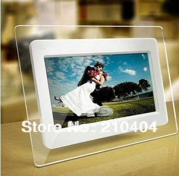 7 inch TFT LCD Wide Screen Desktop Digital Photo Frame with Calendar Digital Photo Display Frame Support TF Card white 1pcs(China (Mainland))