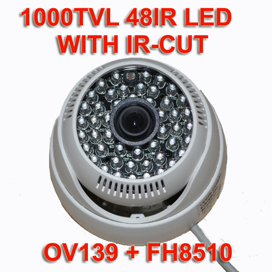 IR-CUT 48IR 1000TVL CMOS Dome Security Surveillance CCTV Camera Night Vision Wide-angle FREE SHIPPING