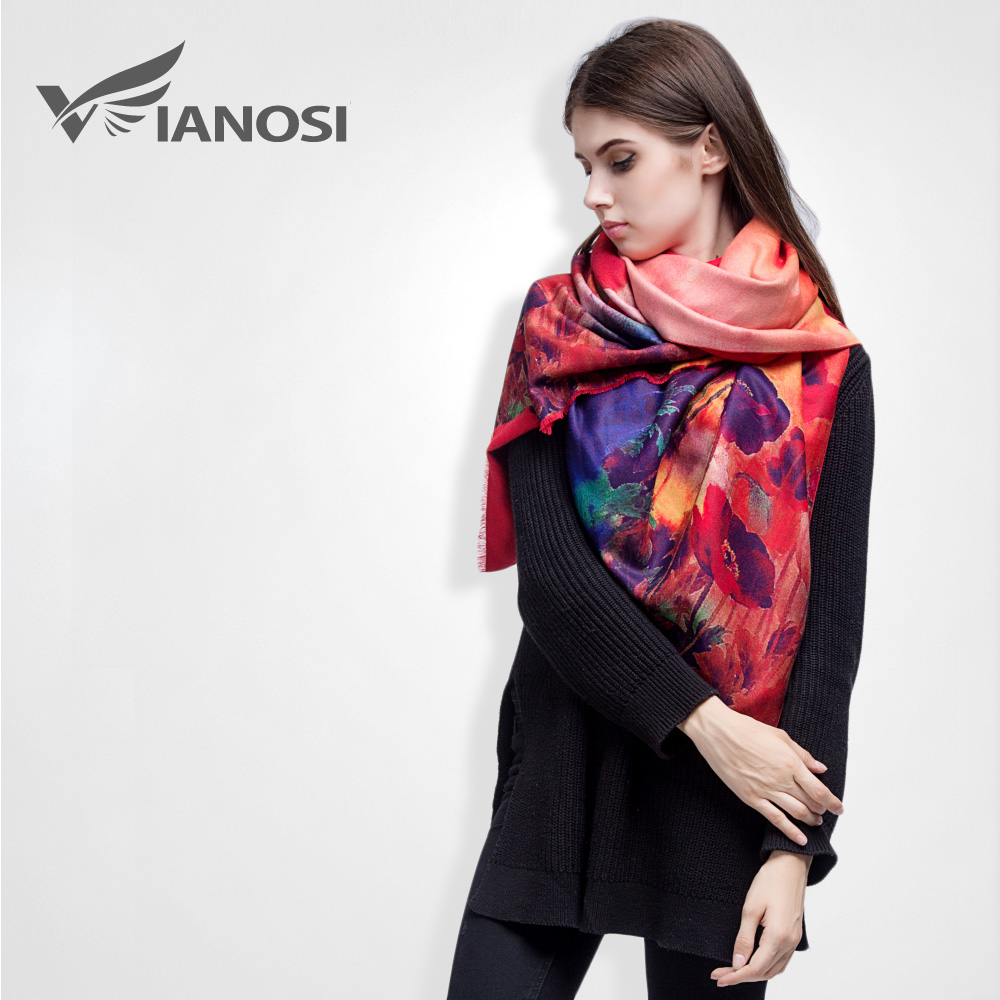 [VIANOSI] Brand Floral Scarf Women Bufandas Warm Cashmere Winter Shawls and Scarves VS036(China (Mainland))