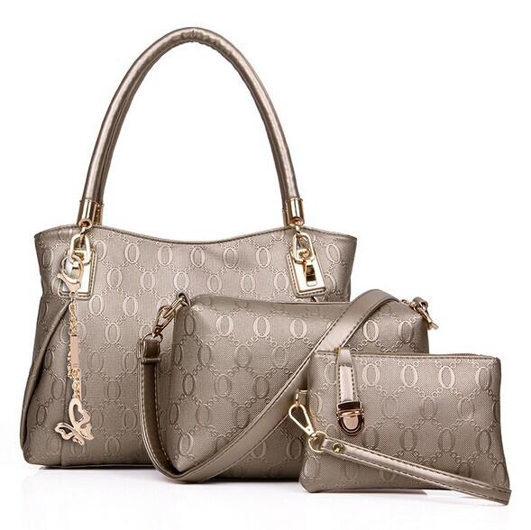 2015 New 3 PCS/Set Women Leather Handbags Fashion Women Handbag Shoulder Bags Casual Women Messenger Bags Tote Bolsas