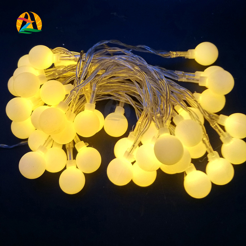 2016 Multicolor Holiday Romantic Ball led String AA battery Garland Pendant Light for Garden Decoration Party Decoration Supply(China (Mainland))