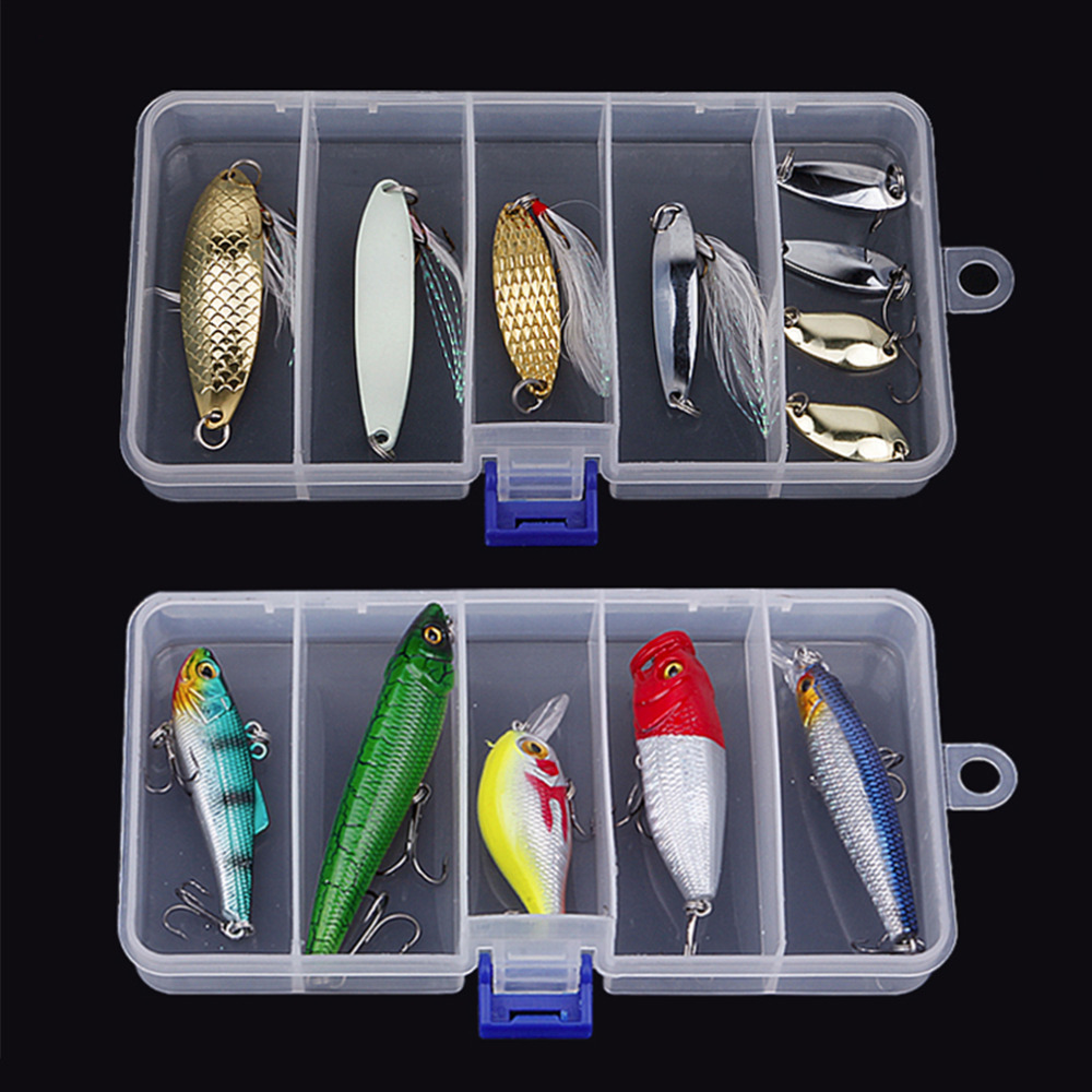 Transparent Plastic Fishing Lure Bait Box Storage Organizer Container Case Worldwide store(China (Mainland))