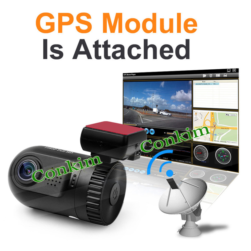 Original Mini 0805 Full HD Video Recorder Car Camera DVR Ambarella A7 A2 1080P 1296P SOS+GPS Optional - Conkim Tech store