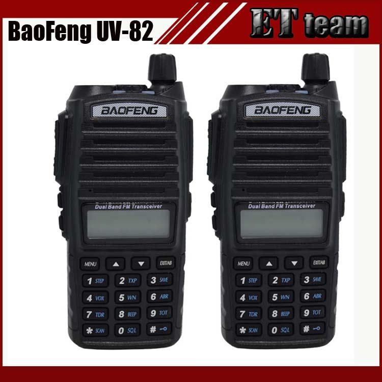 Hot walkie talkie UV 82 baofeng 1 pair Portable Radio Baofeng UV-82 With Earphone CB Ham Radio Vhf Uhf Dual UV82 radio(China (Mainland))