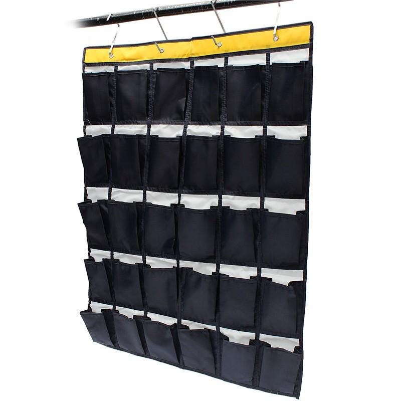 30 Blanks Organizer Over Door Hanging Bag Oxford Shoe Toys Hanger Storage Tidy Jewellery Grocery Underwear Sundries Organizer(China (Mainland))