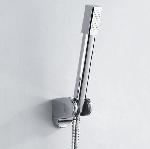 Free Shipping hand shower sets solid brass hand shower +1.5M stainless steel shower hose +holder TH022(China (Mainland))