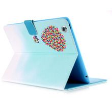 Newest painted Fashion Smart Case For iPad 3 Case Stand Tablet painting Designer Leather Cover fp625(China (Mainland))
