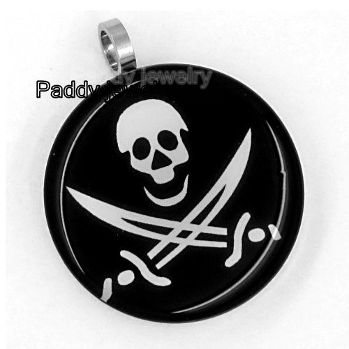 ! Fashion spook double knife Stainless Steel Pendant Skeleton pirate Jewelry nd4 - Paddy jewelry store