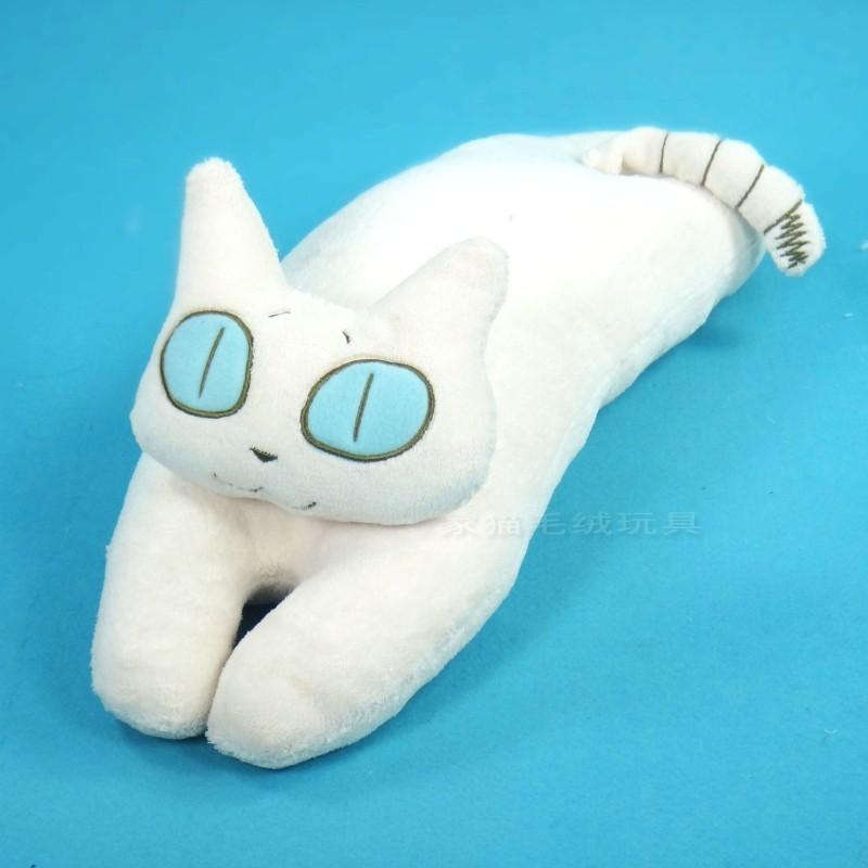 Cute Big Cat Plush Toy Pillow : cute plush big eyes lying cat pillow toy cartoon white cat pillow doll gift about 62x16x20cm-in ...