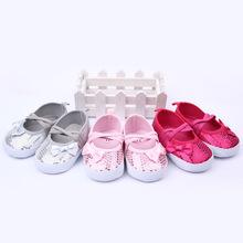 0-12 month Kids Girl Bowknot Bling Sequins Soft Bottom Soft Bottom Princess Shoes