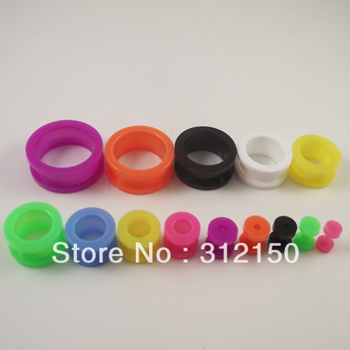 2814 sizes Candy Color Ear Flesh Tunnel Taper Stretchers Plugs Body Piercing Jewelry Acrylic Screw Plug  -  Sun Supply Co.,Ltd store