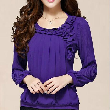 summer style blusas camisas femininas 2015 tops women blouses chemise femme female chiffon blouse shirt woman clothes plus size(China (Mainland))