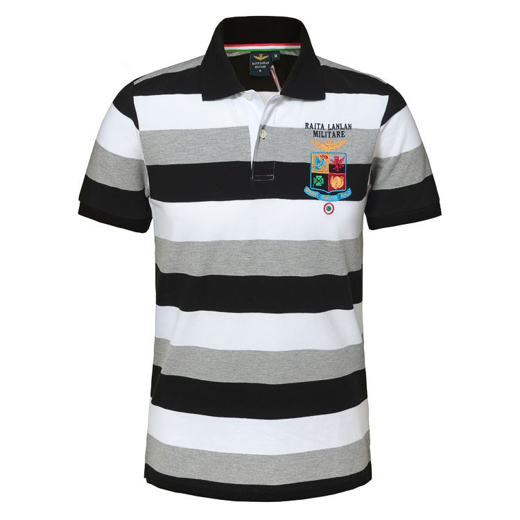 100% Cotton High Quality Summer Style Australian RETAIL AERONAUTICA MILITARE Men Sport POLO Shirt Air Force One Striped Homme(China (Mainland))