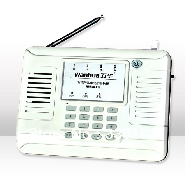 Free Shipping Intelligent Burglar Alarm System with Wireless Code Identification Method