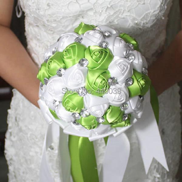 Homemade Wedding Bouquets Silk Flowers : Colors diy custom artificial flowers silk rose bouquet