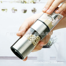 Two in One Stainless Steel Pepper Mill Salt Pepper Grinder mill for pepper(China (Mainland))