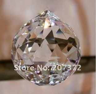 FREE SHIPPING+100% AAA Quality Guaranteed 30mm,80Pcs/lot, Clear Crystal Faceted Balls For Wedding Decoration Best Selling(China (Mainland))