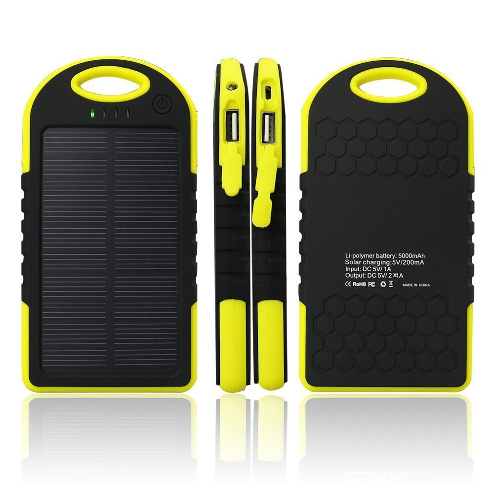 Solar Batteries Battery Power Bank Waterproof Portable Mobile Charger 5000 mAh Power Bank 5000mah Dust Proof Shack Proof(China (Mainland))