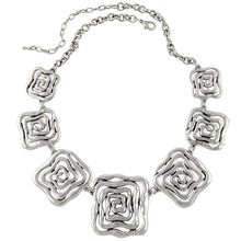 2015 New Arrival Choker Necklace Fashion Women Silver Plated Flower Chunky Chains Statement Necklace Ethnic Jewelry(China (Mainland))