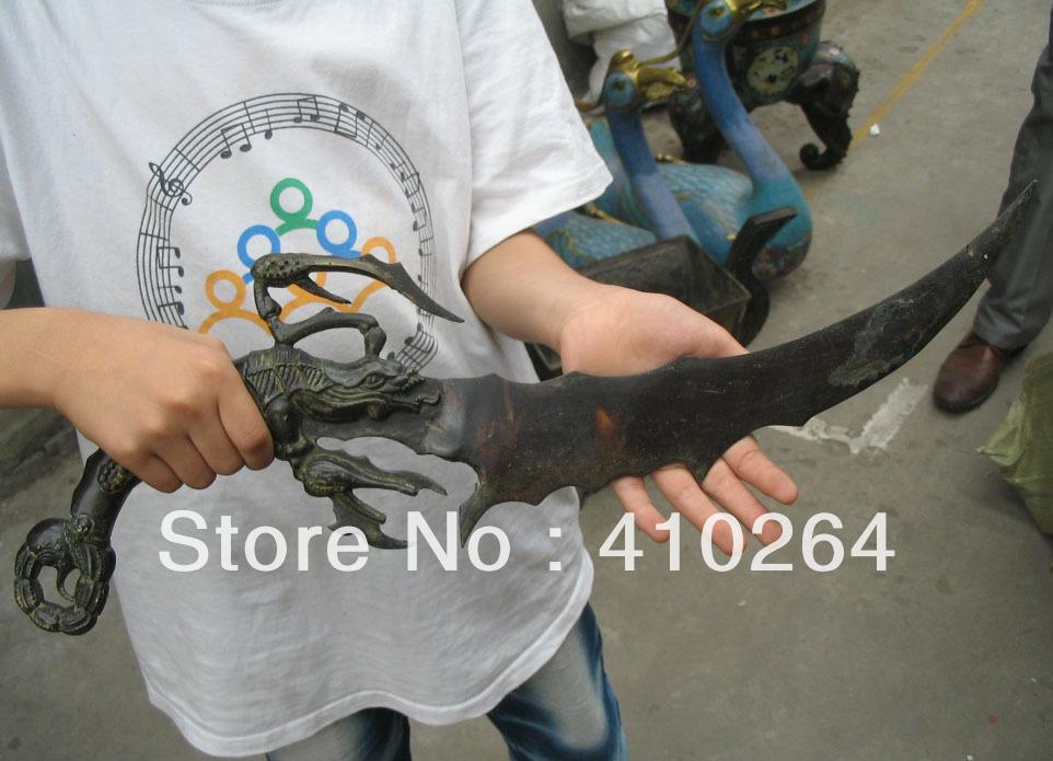 $Nice Discount$ Crab sword knife bronze Chinese Classic Statue(China (Mainland))