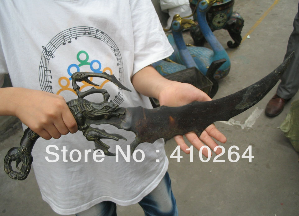 $Nice Discount$ Crab sword knife bronze Chinese Classic Statue(China (Mainland))