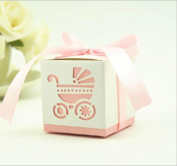 50pcs Creative wedding marriage new hollow BB car baby candy box European candy box finished(China (Mainland))