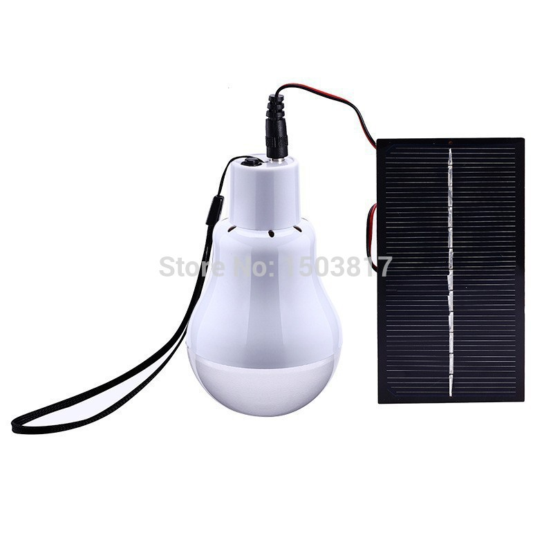 Solar Powered 12pcs LED Lighting Light Lamp 1 Bulb solar panel Outdoor/Indoor camp night for 5-6hours(China (Mainland))