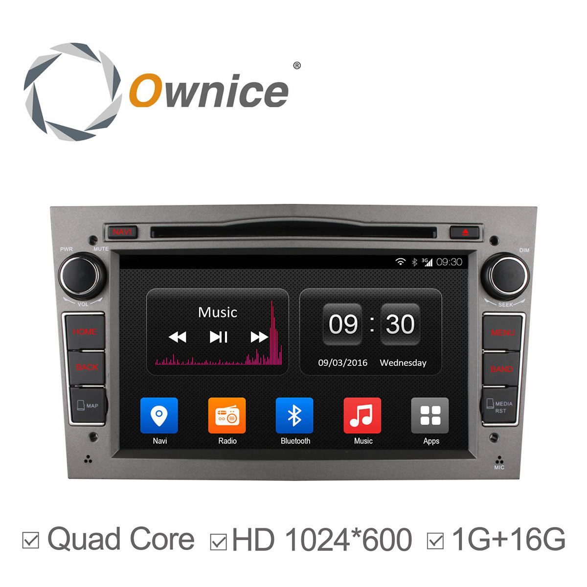 Android 4.4 Quad Core 2 din car DVD Player car stereo With GPS Navigation For Opel with radio BT 1024*600 support 3G DAB+ OBD(China (Mainland))
