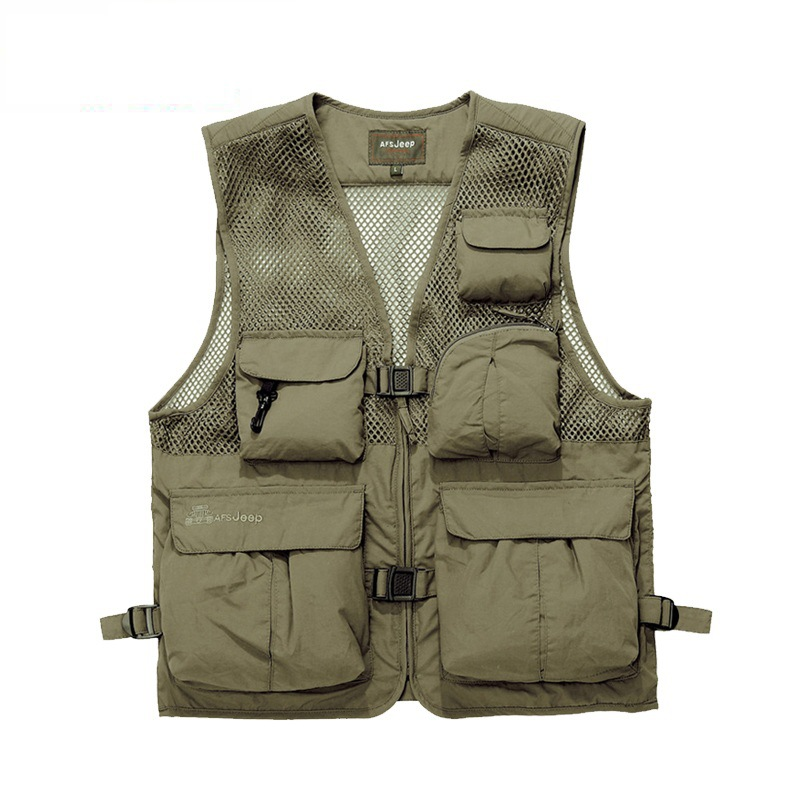 The Explosion of Classic Multi Pocket Vest Vest Photographer Outdoor Men Fishing Vest Free Shipping(China (Mainland))