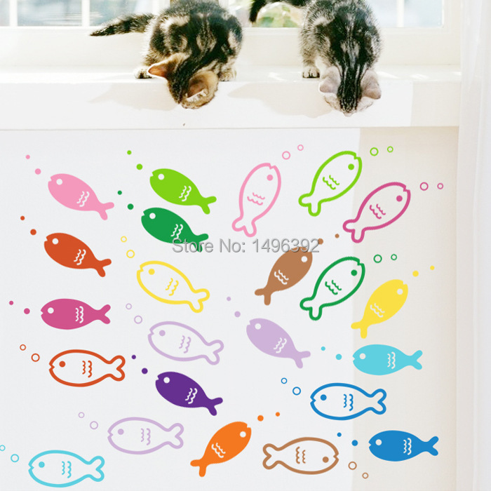 decoracao banheiro diy:Decorative Fish Wall Stickers