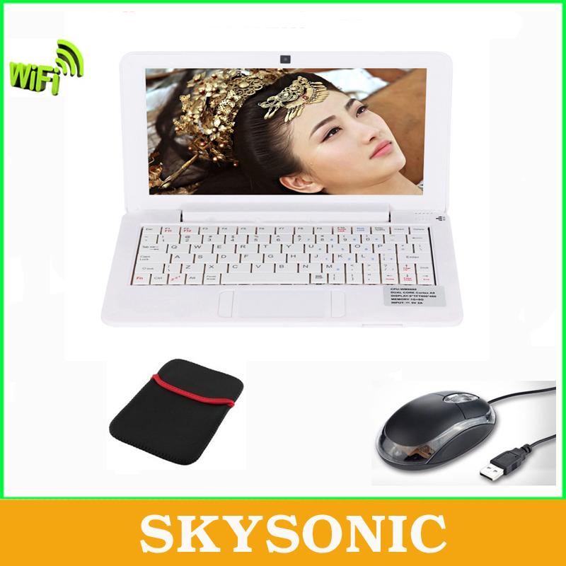 10 дюймов Android нетбук / ноутбук / ноутбук Pad Tab с 512 МБ оперативной памяти + 4 ГБ rom, wifi, hdmi, двухъядерный, бесплатный подарок с мышь + мешок / белый