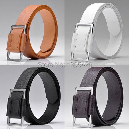 Men Faux Leather Men s Accessory Belt 4Colors Length 41 Width 1 3 HZ