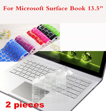 """2 Pieces Washable Laptop Keyboard Cover For Microsoft Surface Book 13.5"""" Waterproof Cover Film For Surface Book Dustproof(China (Mainland))"""