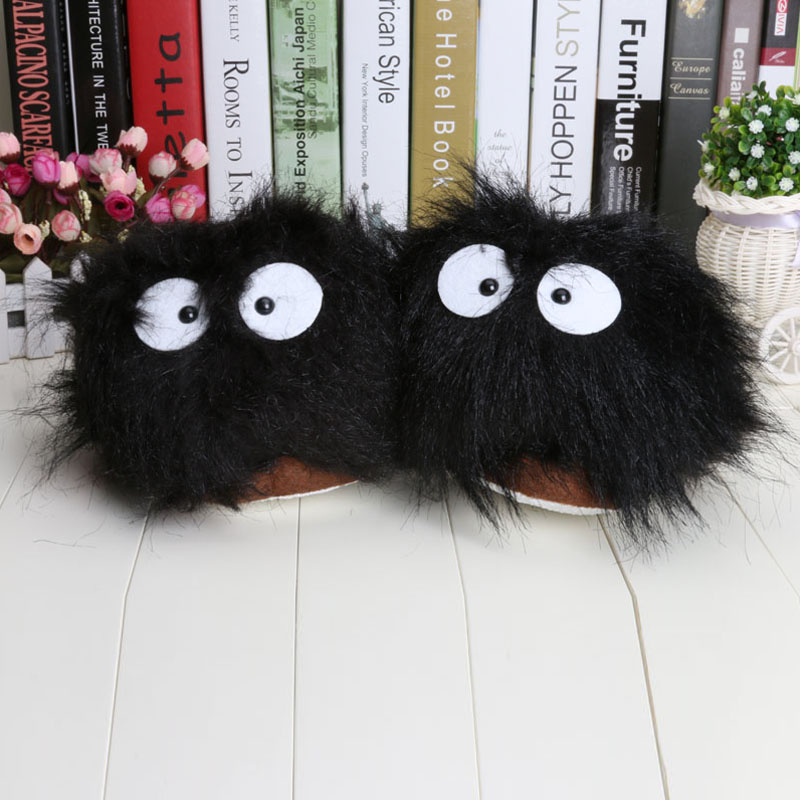 """11"""" My Neighbor Totoro Ghibli Dust Bunny Adult Plush Doll Slippers Indoor Shoes(China (Mainland))"""