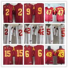 USC Trojans Robert Woods 2 Red,Matt Barkley 7,Mark Sanchez 6 Clay Matthews 47 O.J Simpson 32 Troy Polamalu 43(China (Mainland))