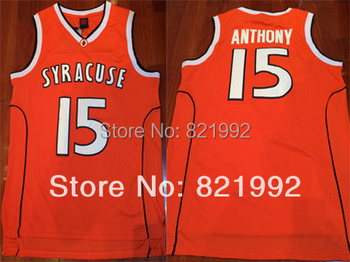 Wholesale Cheap Jersey,Hottest Sale #15 Carmelo Anthony Men's New York Syracuse College NCAA Basketball Stitched Jerseys